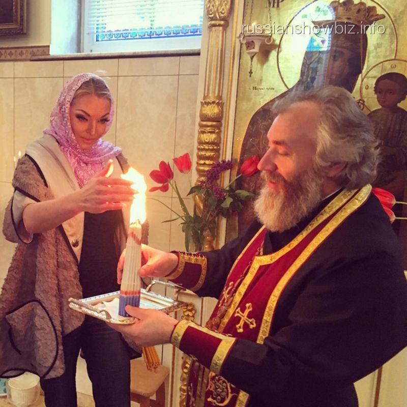 Анастасия Волочкова и отец Николай