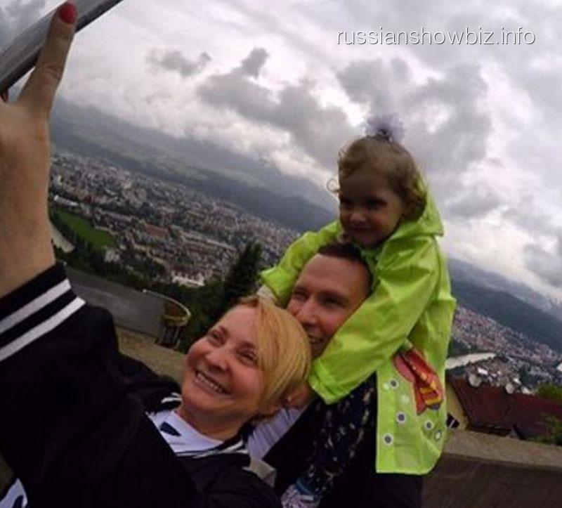Светлана Пермякова с мужем и дочерью
