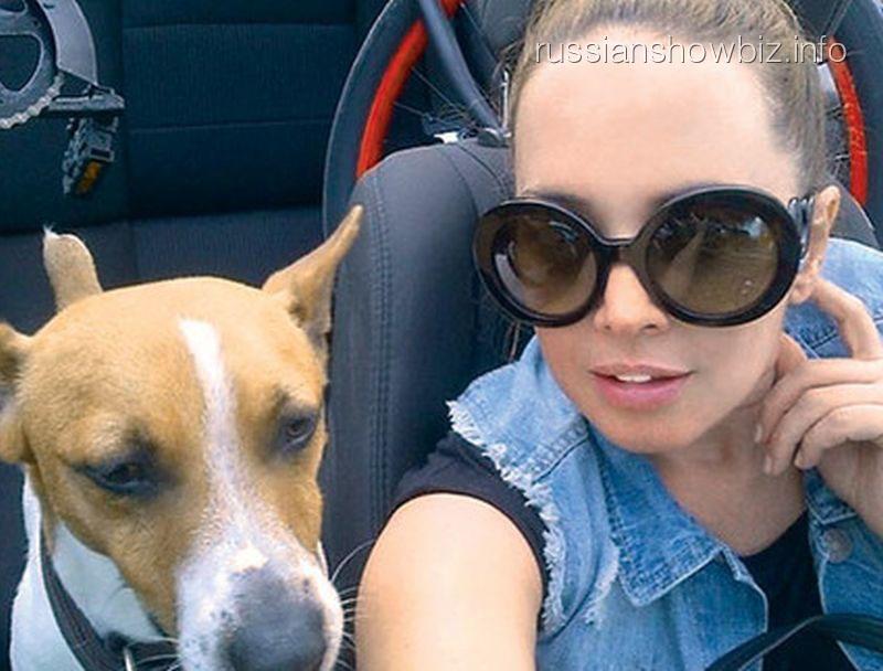Жанна Фриске с любимым псом
