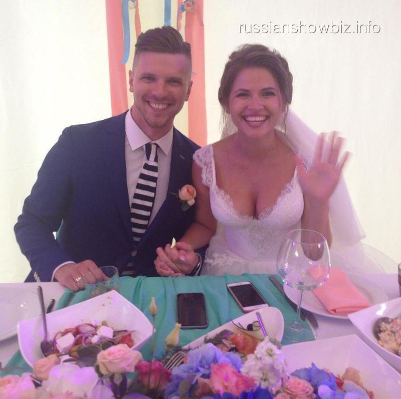 Юлия Топольницкая с мужем