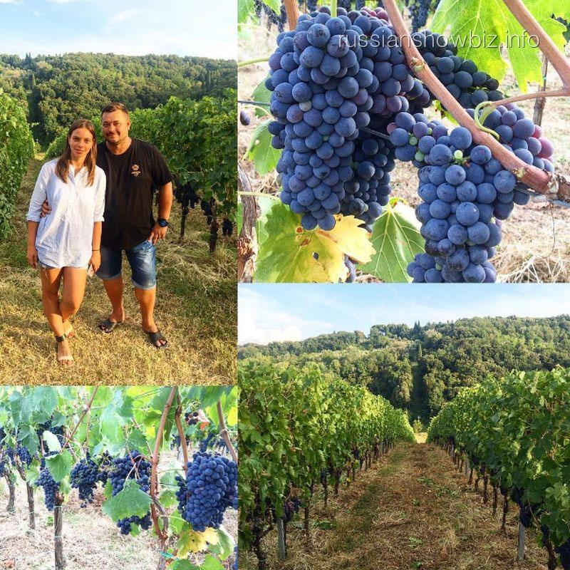 Сергей Жуков с женой выбирает виноградник