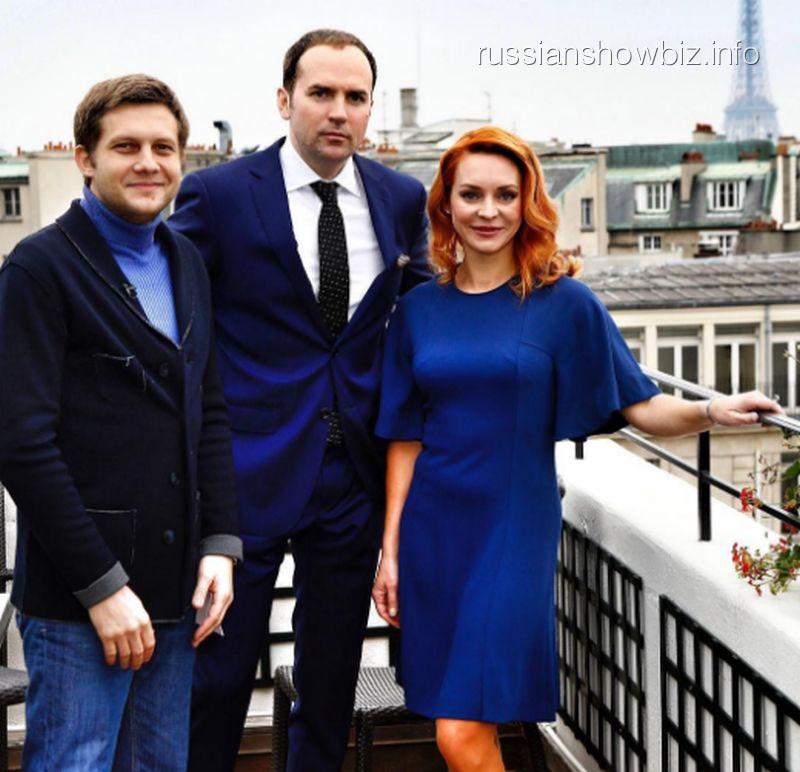 Марина Анисина с Борисом Корчевниковым и Сергеем Жориным