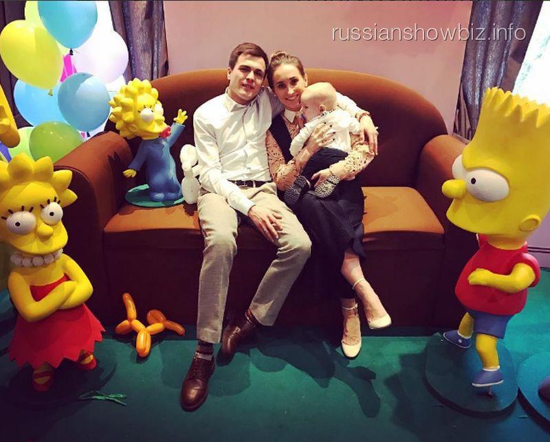 Анастасия Винокур с мужем и сыном