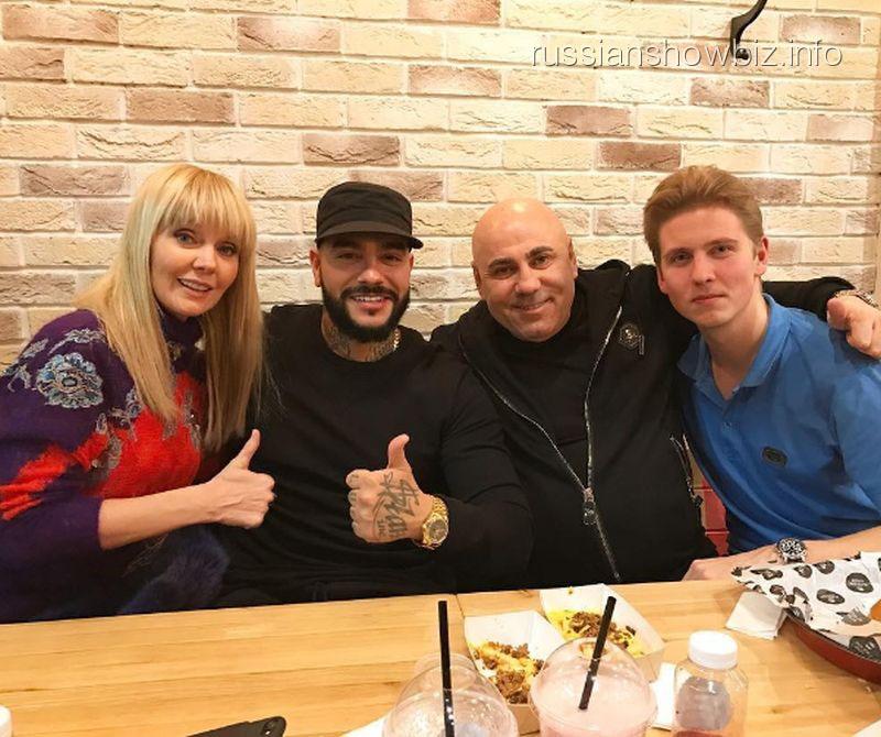 Валерия, Тимати, Иосиф Пригожин и Артемий Шульгин