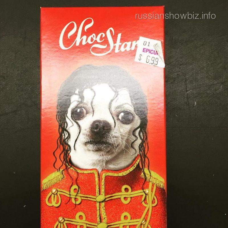 Шоколадка с собачкой Майклом Джексоном