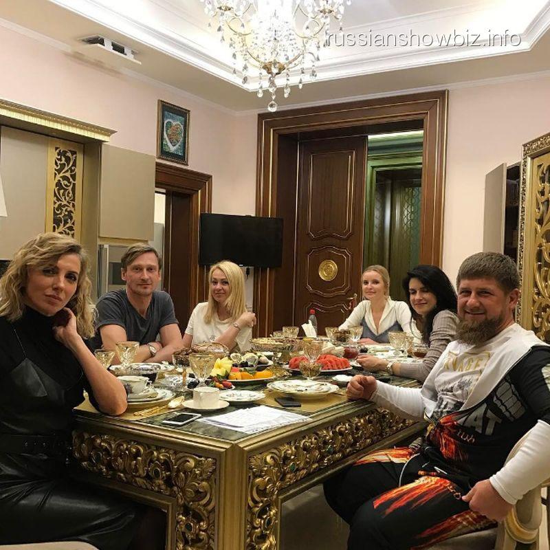Яна Рудковская на приеме у Кадырова