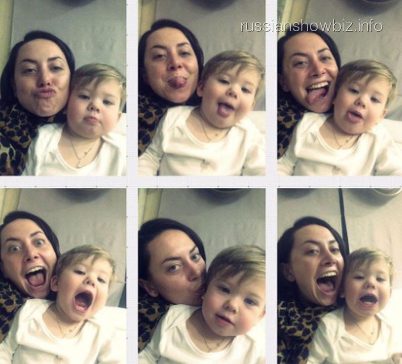 Наталья Фриске с племянником