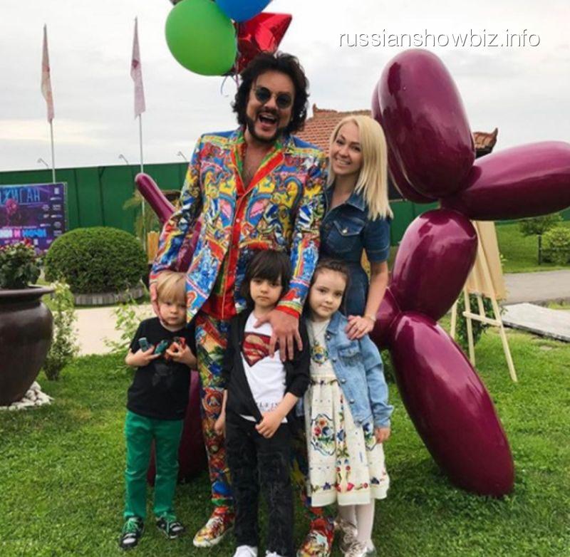 Филипп Киркоров и Яна Рудковская с детьми