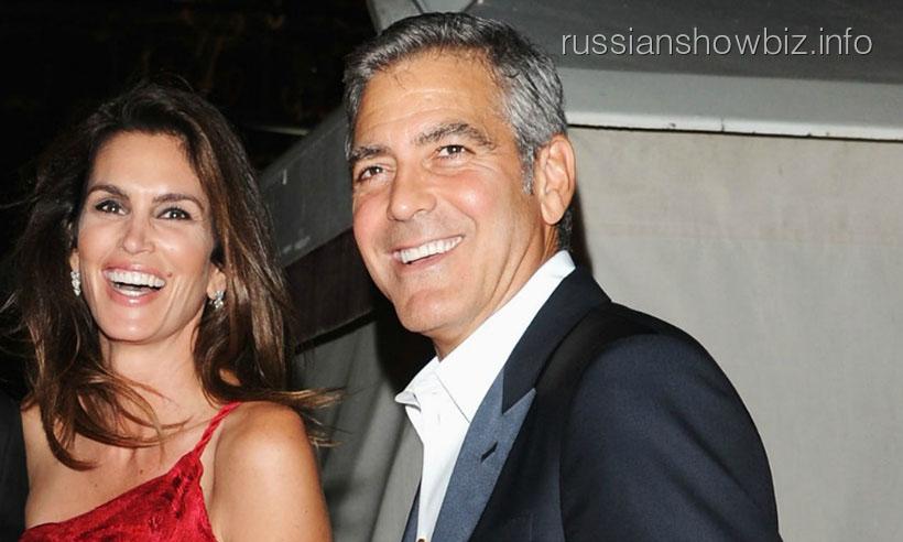 Джордж Клуни оказался в постели Синди Кроуфорд