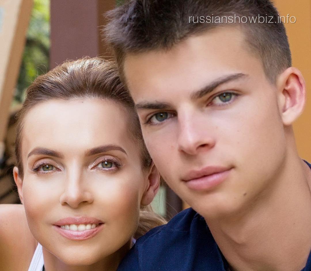Марина Газманова с сыном