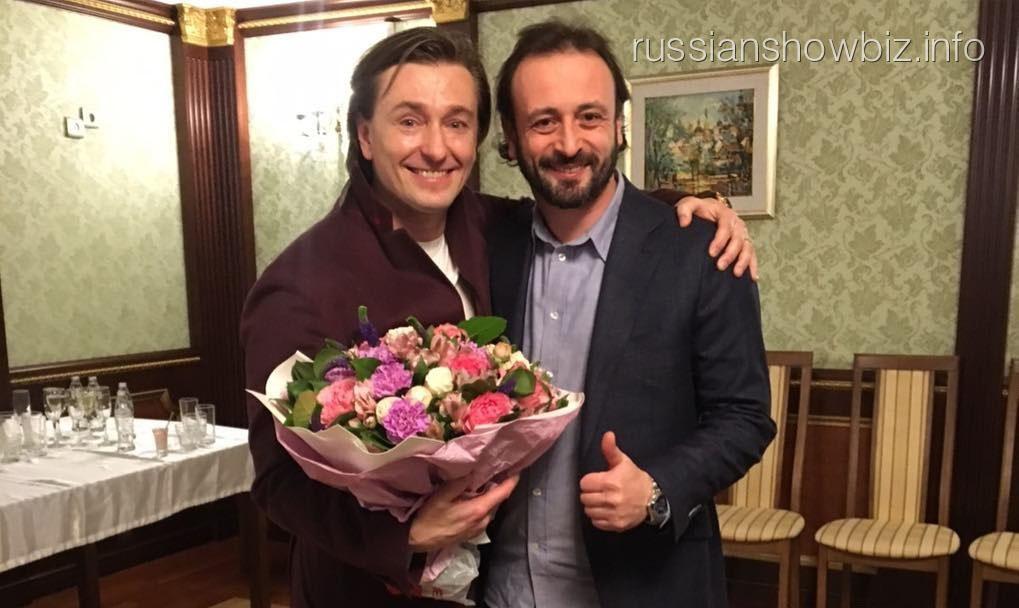 Фигурист Илья Авербух с актером Сергеем Безруковым