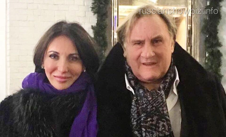 Алика Смехова с Жераром Депардье