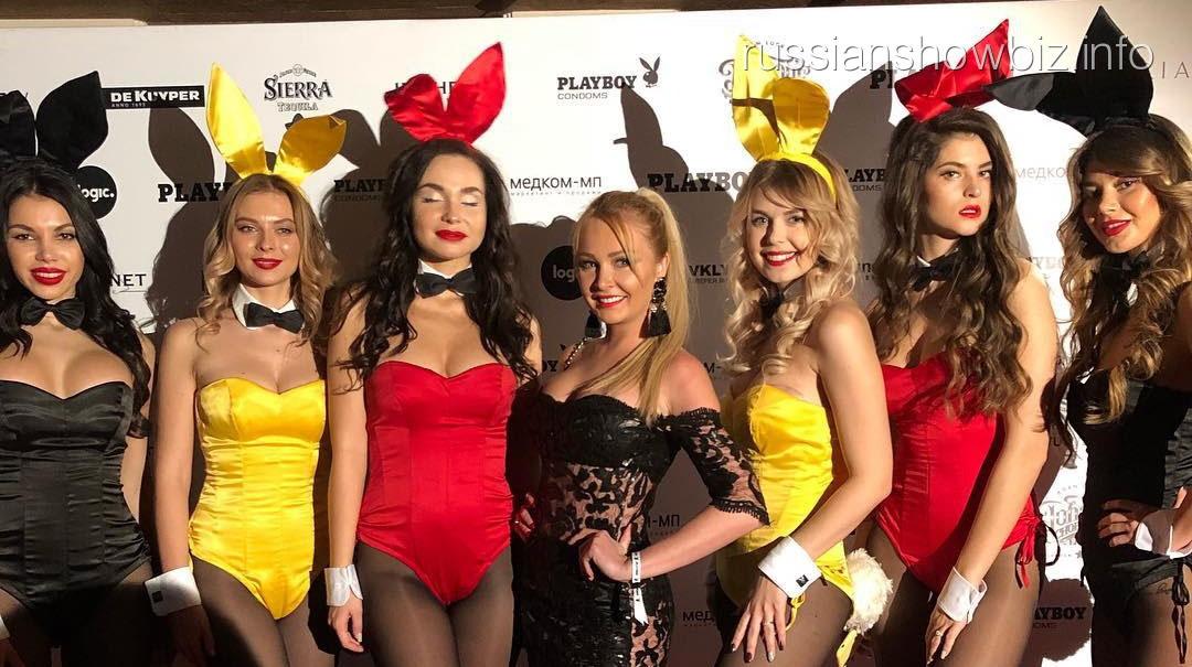 Дарья Пынзарь с моделями PlayBoy