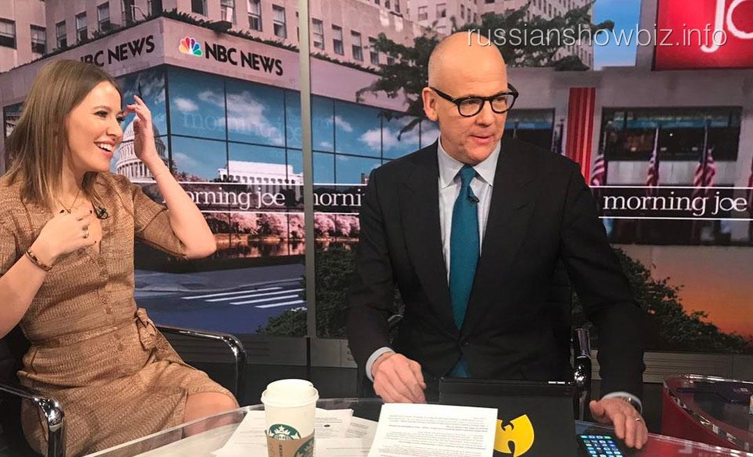 Ксения Собчак посетила американское телешоу