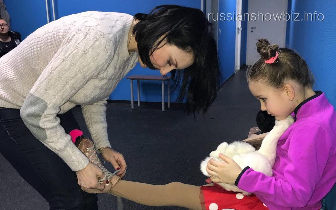 Ирина Слуцкая с дочерью