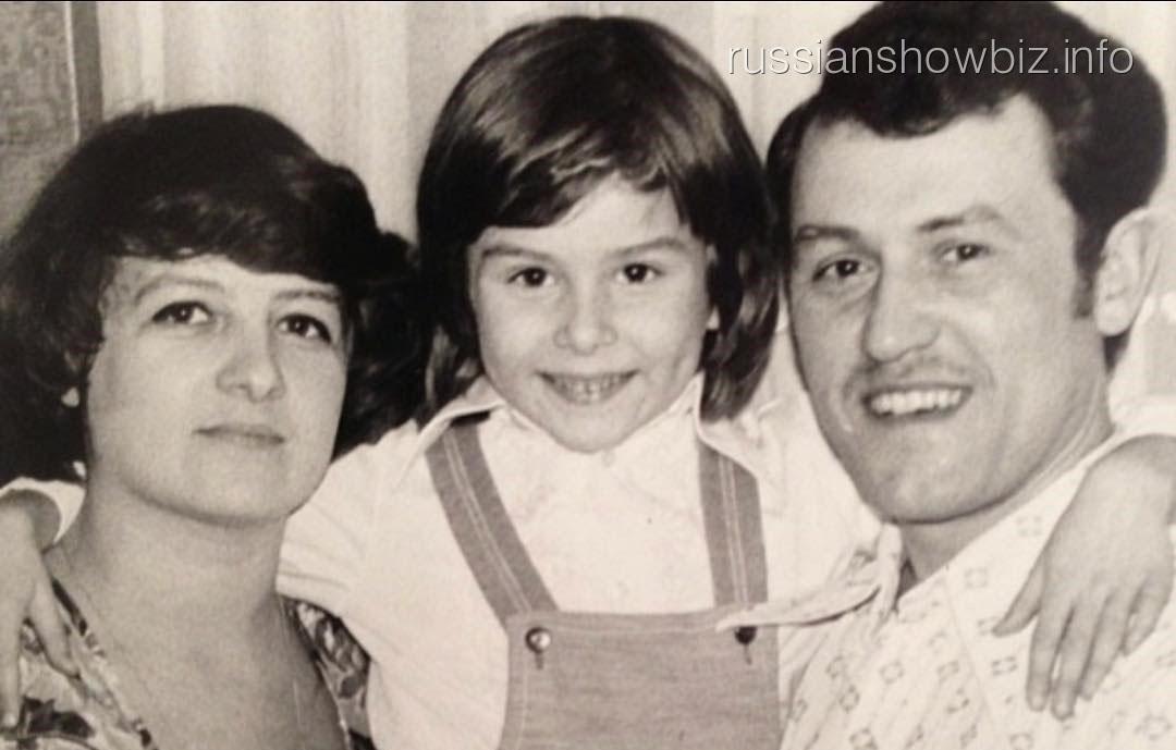 Жанна Бадоева с родителями