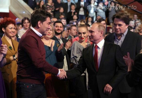 Азамат Мусагалиев с президентом Путиным